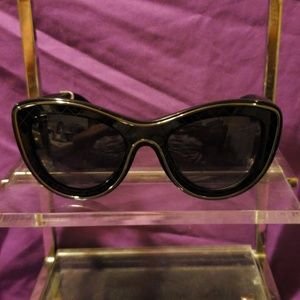 Authentic Chanel Black Cat Eye SUNGLASSES NWT